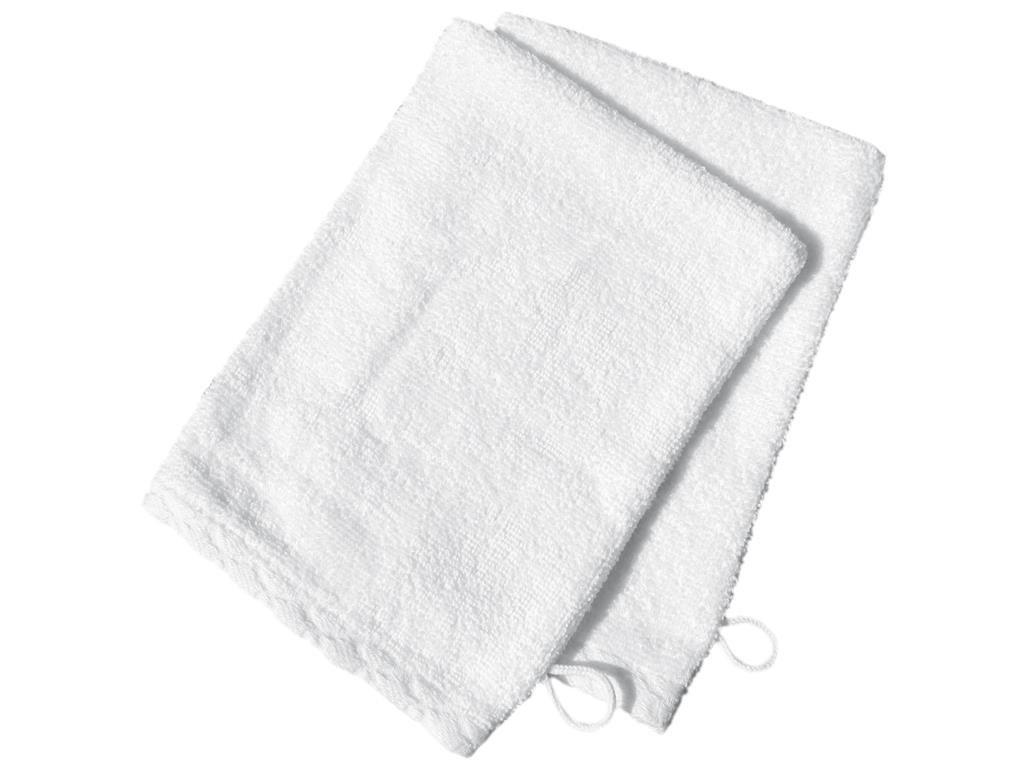 Soleil d'ocre Set di 2 guanti da bagno ANTIQUE bianco Soleil d' ocre