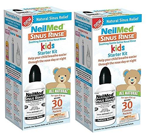 Sinus Rinse Pediatric Kit - NeilMed Sinus Rinse Pediatric Starter Kit- 30 Packets (Pack of 2)