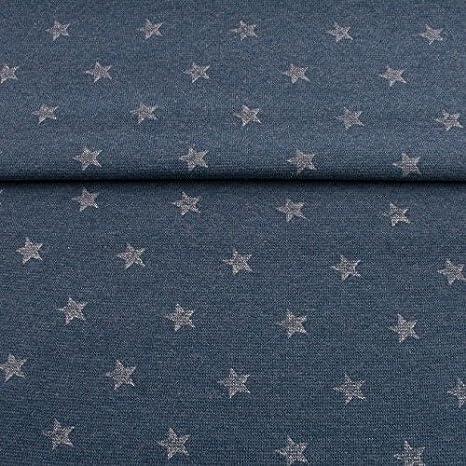 Bündchenstoff im Schlauch Sterne mit Glitzer*4 Farben* ab 50cm