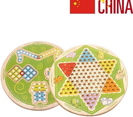 JinLiu Juego de Tablero, Juego de Damas Chinas 7 en 1 para 2 o más Jugadores (Importado): Amazon.es: Hogar
