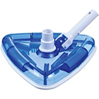 """Milliard Sea-Thru Triangle Weighted Pool and Spa Vacuum Head, 11"""" Wide Cleaning Surface Safe on Vinyl Lined Pools"""