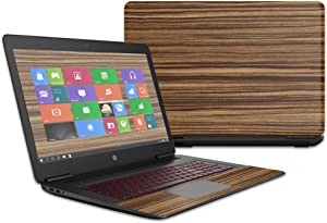 MightySkins Skin Compatible with HP OMEN Laptop 17t (2016) wrap Cover Sticker Skins Dark Zebra Wood