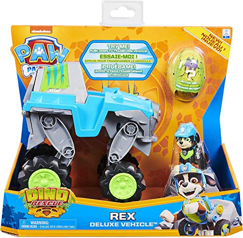 PAW-PATROL-6059329-Childrens-Toy-Game-Vehicle-Deluxe-Rex-Dino-Rescue-Figure