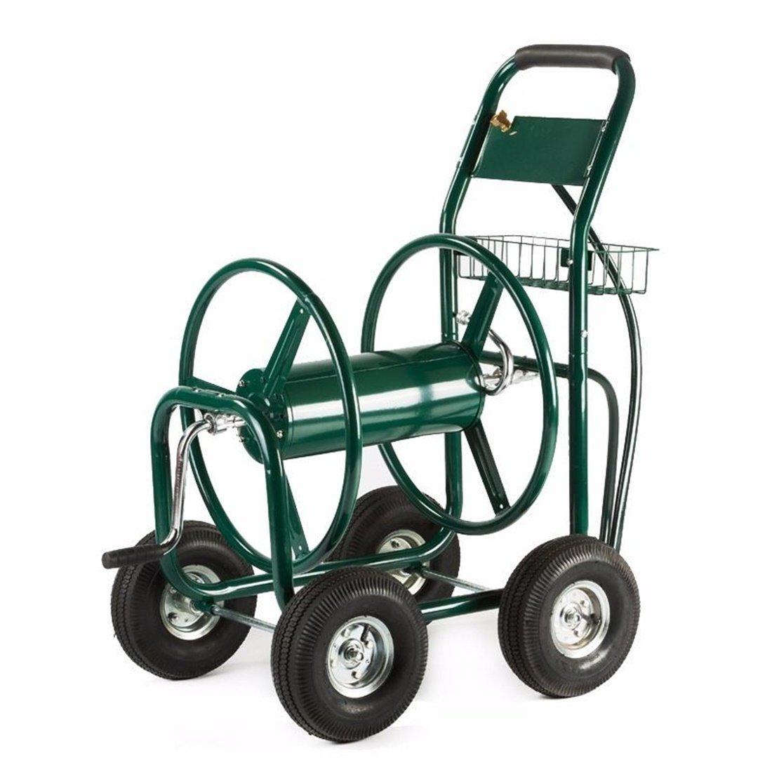 WShop 300 FT Garden Water Hose Reel Cart Outdoor Heavy Duty Yard Water Planting New