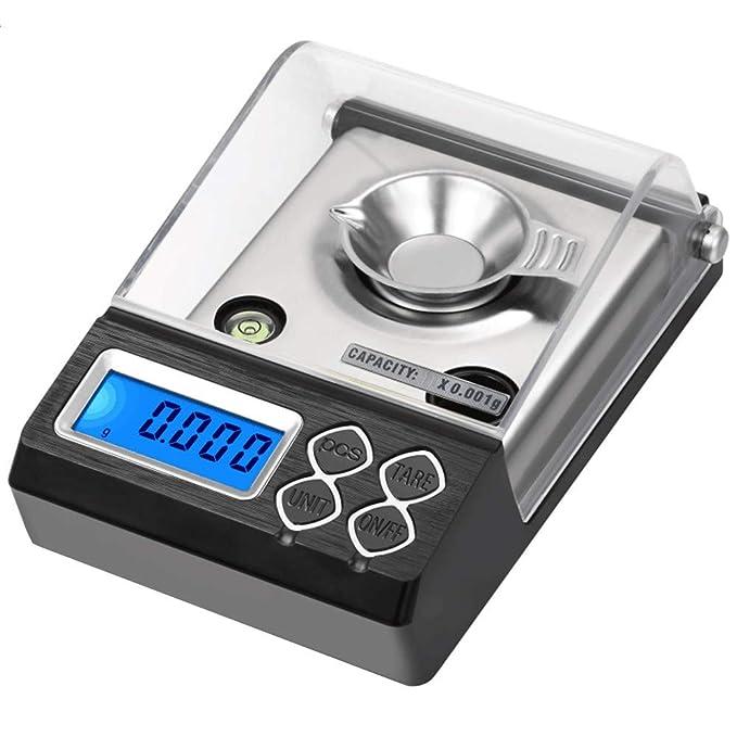 Báscula Electrónica Inteligente, Smart Weigh, Alta Precisión, Balanza Electrónica para Alimentos, Pantalla LCD, 0.001 gramos de precisión de joyería ...