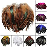 Bazaar 100pcs Fluffy Fashion Rooster Feather Craft DIY 6-8