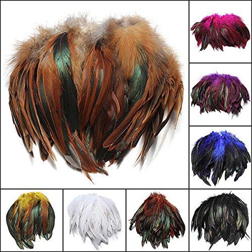 Bazaar 100pcs Fluffy Fashion Rooster Feather Craft DIY 6-8 Big Bazaar