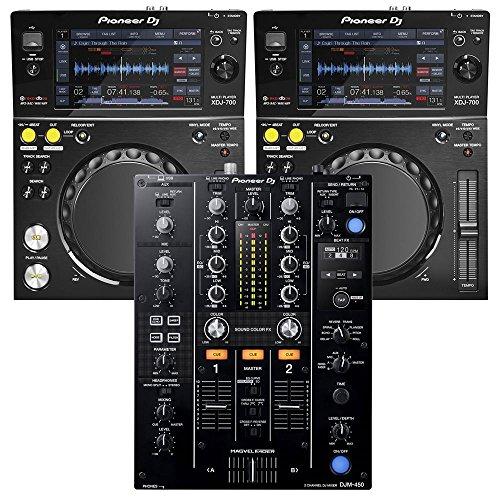 (Pioneer DJM-450 DJ Mixer & (2) XDJ-700 Players)