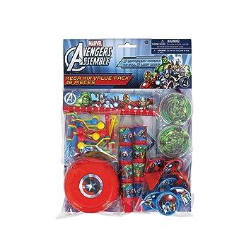 Amazon.com: Amscan – Vengadores Fiesta de cumpleaños Mega ...