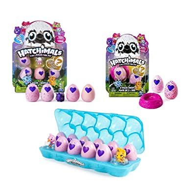 Hatchimals Colleggtibles Season 2 Gift Pack! ( Includes Egg Carton 12 Pack, 5 Pack, 2 Pack with Nest) Total of x19: Toys & Games