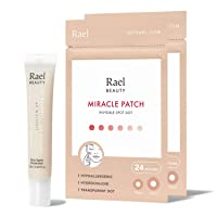 Rael Acne Spot Treatment Bundle - Miracle Patches 2 Pack (48 Count) & Cica Spot...