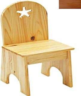 product image for Little Colorado Solid Back Star Kids Chair in Honey Oak