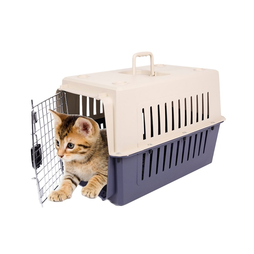 KARMAS PRODUCT Small Plastic Cat & Dog Carrier Cage Portable Pet Box Airline Approved by KARMAS PRODUCT
