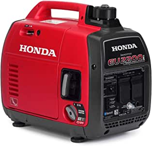 Honda 663530 EU2200 120V 2200-Watt 0.95 Gallon Companion Portable Generator with Co-Minder