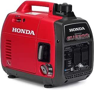 Honda 663530 EU2200 120V 2200-Watt 0.95 Gallon Companion Portable Generator with Co-Minder