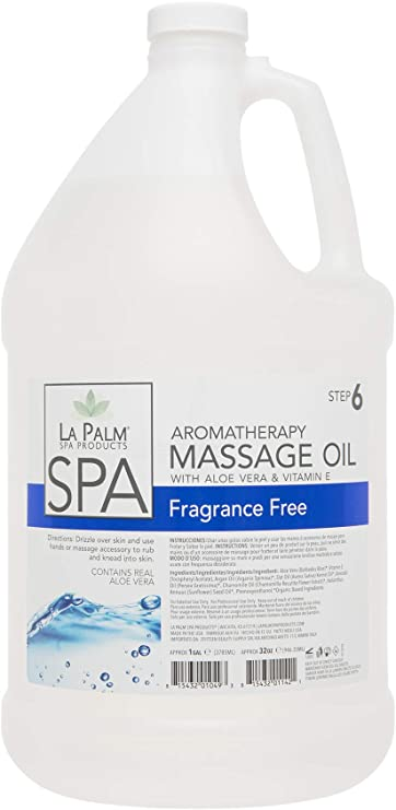 Amazon Com La Palm Aromatherapy Massage Oil 1 Gal Fragrance Free Health Personal Care
