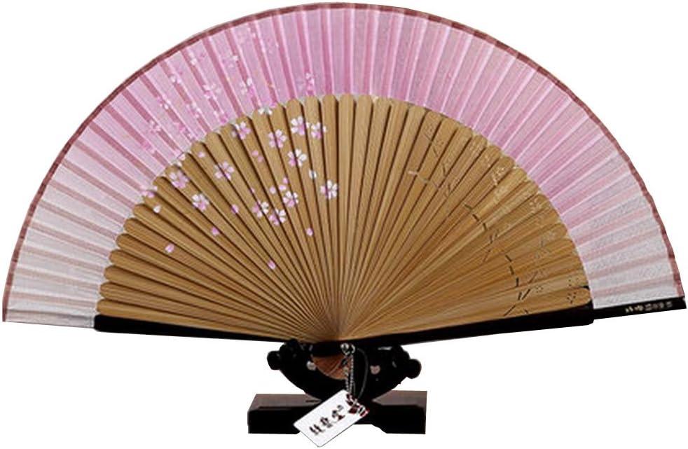 Retro hermoso diseño japonés Sakura Falling Seda de mano ...