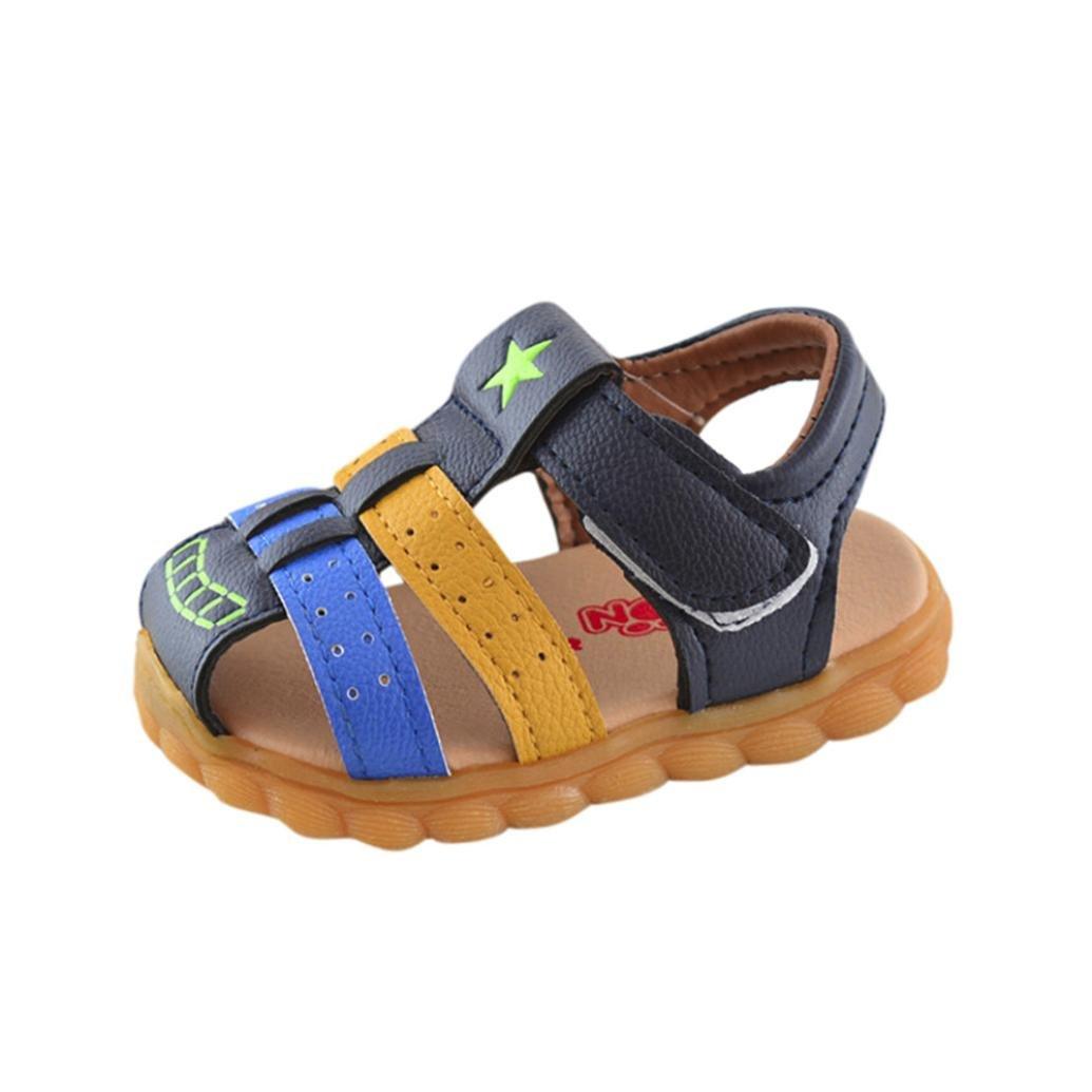 Niños Bebes Sandalias Ocasionales de Niños Moda Zapatilla de Deporte Patchwork Star Print Zapatos ¡Verano caliente! ❤ Manadlian (Azul, 18-24 Meses): ...
