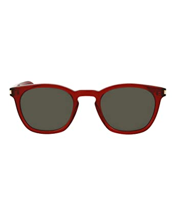 baf9ea0dac09a Image Unavailable. Image not available for. Color  Saint Laurent Unisex  Square Rectangle Sunglasses SL28-30000081-008