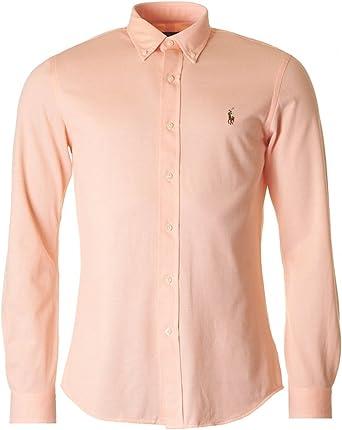 Polo Ralph Lauren Lsfbslimm1-long Sleeve-Camisa Informal Hombre Pale Melon S: Amazon.es: Ropa y accesorios