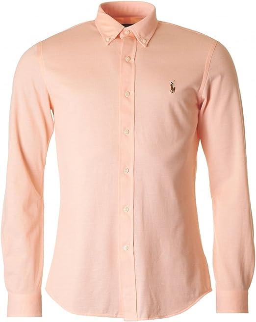 Polo Ralph Lauren Lsfbslimm1-long Sleeve-Camisa Informal Hombre ...