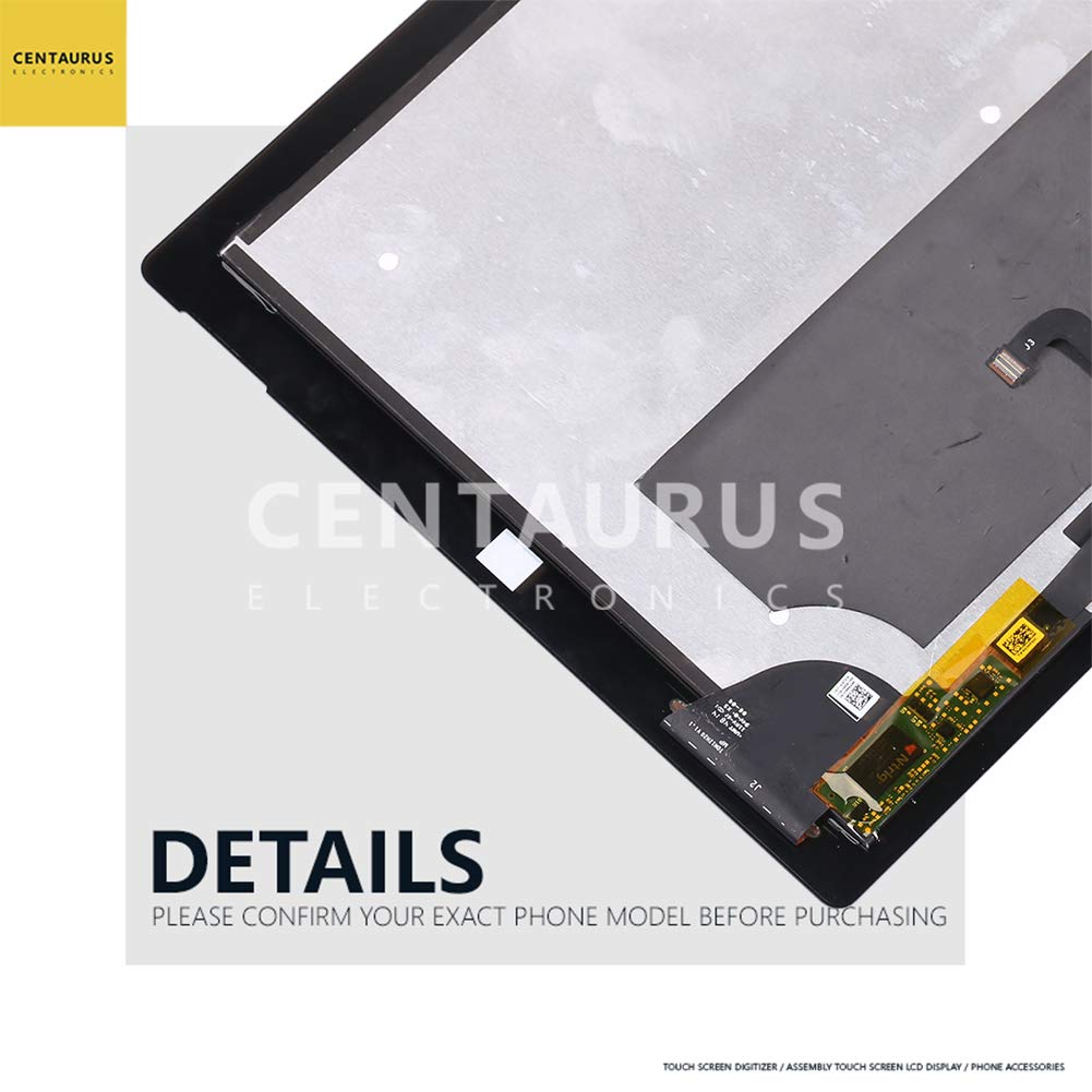 CENTAURUS Assembly for Microsoft Surface Pro 3 (1631) LTL120QL01 V1.1 12.0 inch Replacement LCD Display Touch Screen Digitizer Glass Full Part Complete by CE CENTAURUS ELECTRONICS (Image #7)