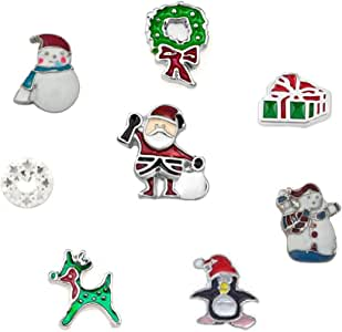 Chris Johnsons Christmas Series Charms Tree Socks Santa Clause Floating Charms for Glass Living Memory Lockets Necklace
