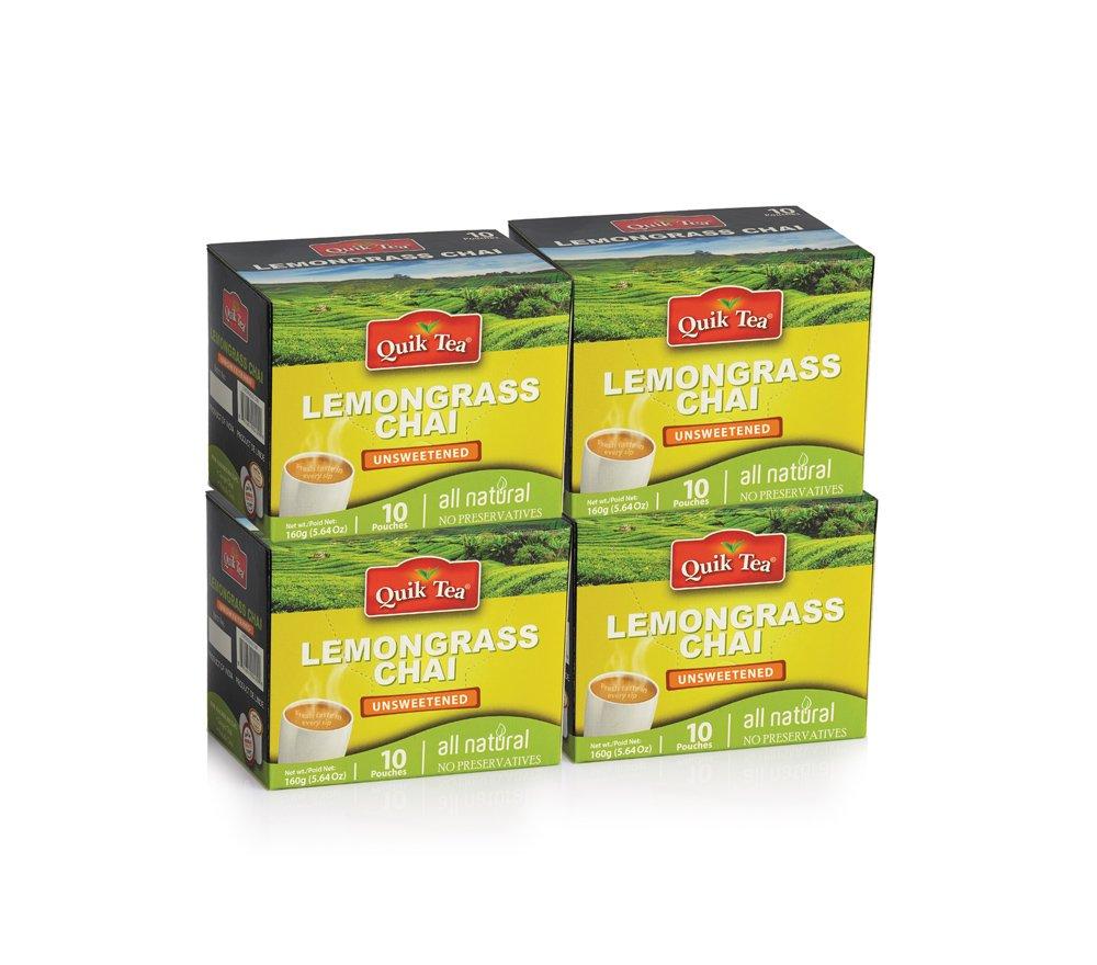 QuikTea Unsweetened Chai, Lemongrass, 640 Gram