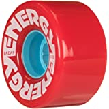 Radar Wheels - Energy 57 - Roller Skate Wheels - 4 Pack of 78A 31mm x 57mm Quad Skate Wheels | Red