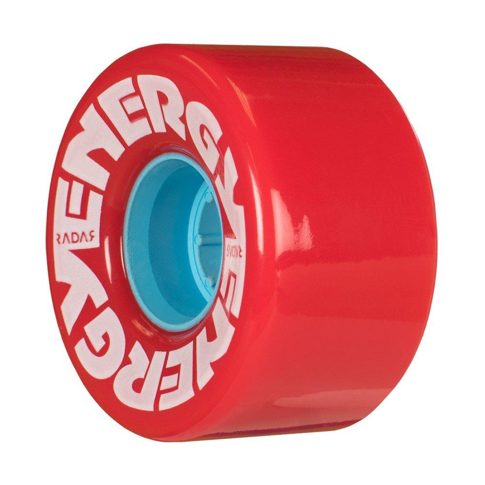 Riedell Skates Radar Energy 57mm Outdoor Skate Wheels (RED, Set of 4)