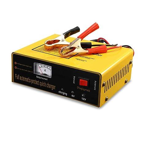 6V / 12V Cargador de batería de automóvil, universal AC110-250V a CC 6 / 12V 80AH 140W Cargador de batería de automóvil inteligente automático ...