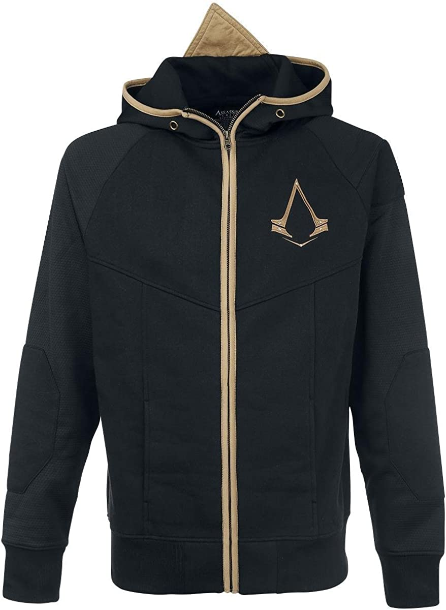 Assassin 's Creed Logo Capucha Chaqueta Negro/Oro