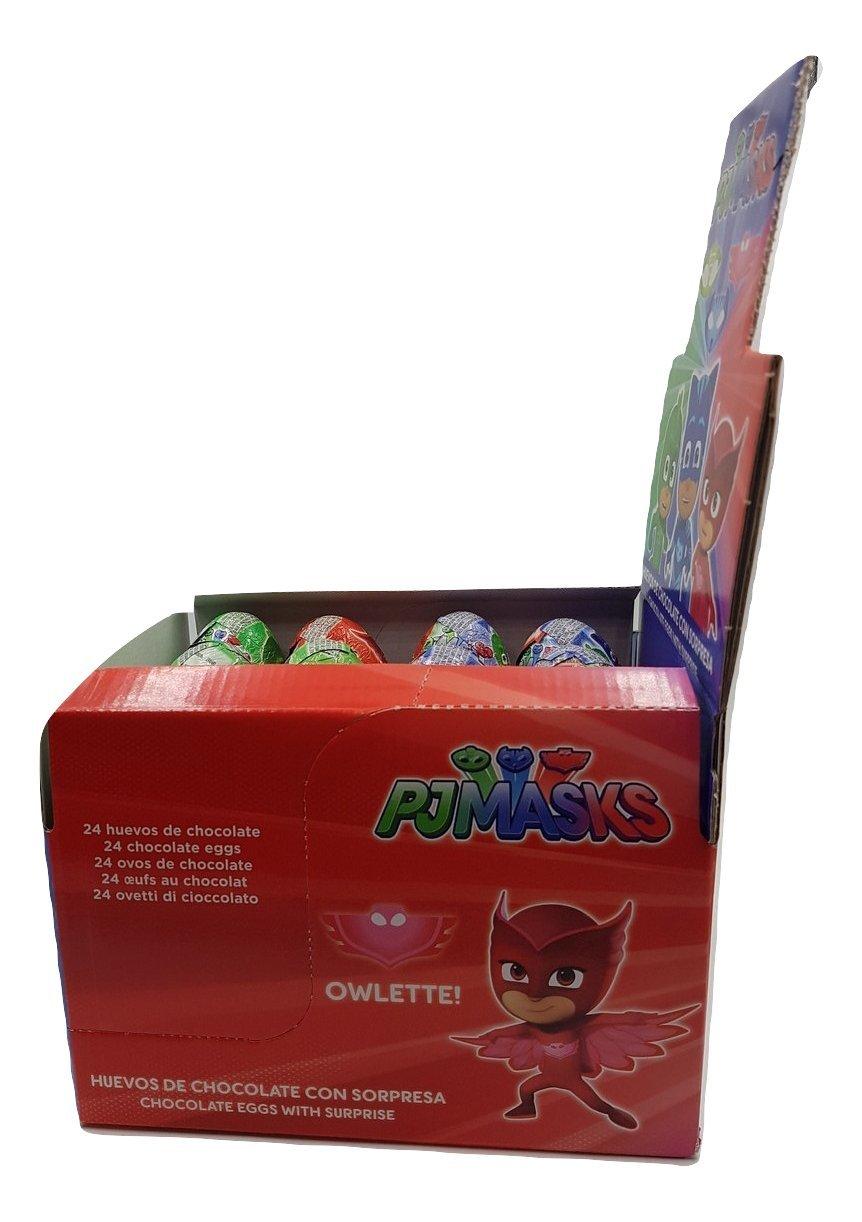 PJ Masks - Huevos de chocolate con sorpresa - 24 unidades: Amazon.es: Alimentación y bebidas