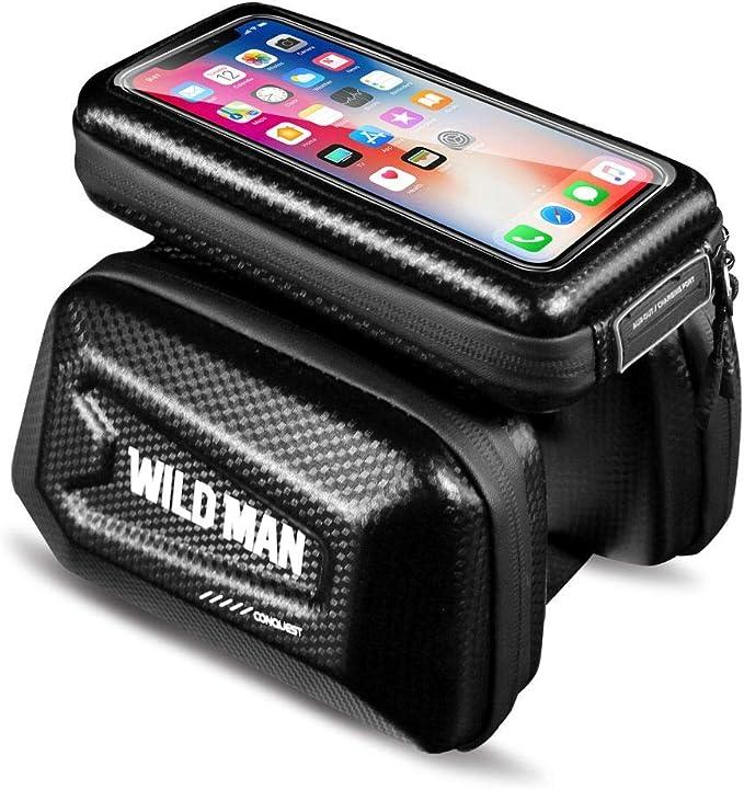 WILD MAN MTB Mobile Phone Case Waterproof Touch Screen Bike Top Tube Saddle Bags