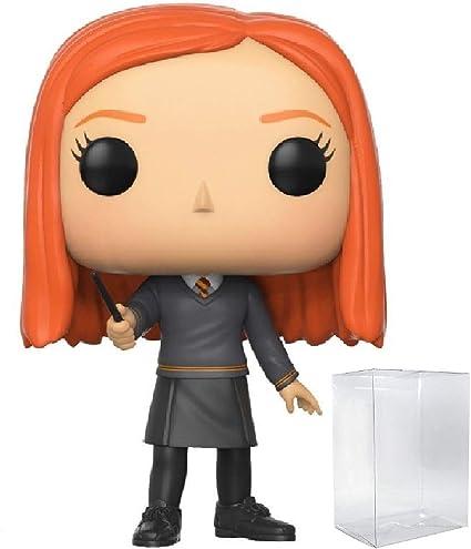 Harry Potter – Ginny Weasley Funko Pop! Figura de vinilo (incluye funda protectora compatible con Pop Box)