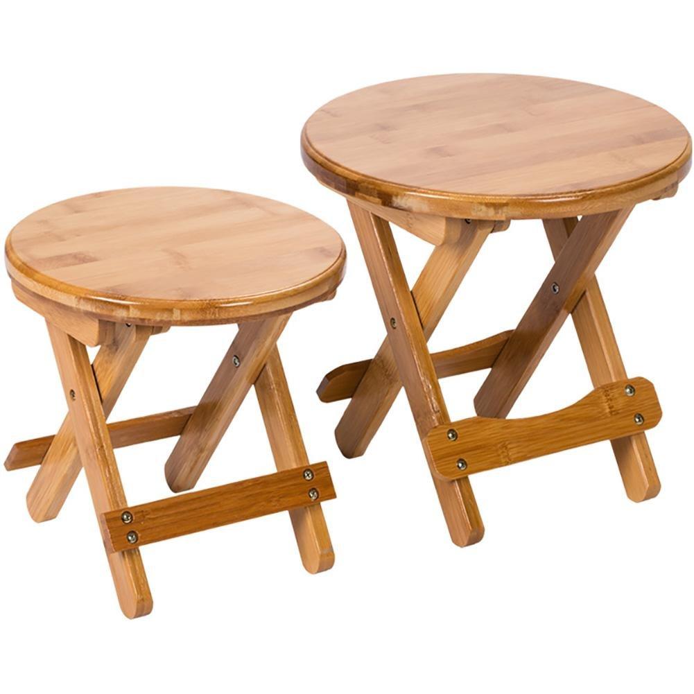 Amazon.com: SFZMRYLSY Taburete plegable de madera portátil ...