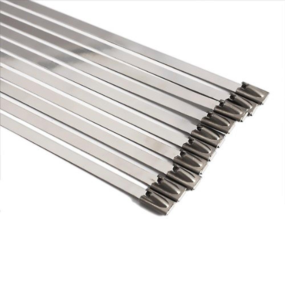 Jeu de 10 colliers de serrage en acier inoxydable SS304 tr/ès r/ésistant tr/ès long et tr/ès large 46mm x 500mm