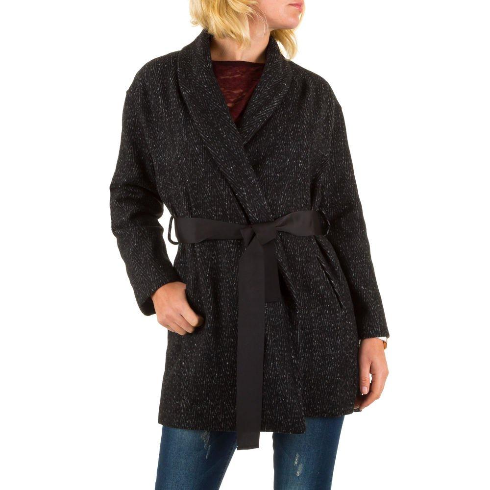 Ital Design Kurz Mantel Für Damen Schwarz kostengünstig