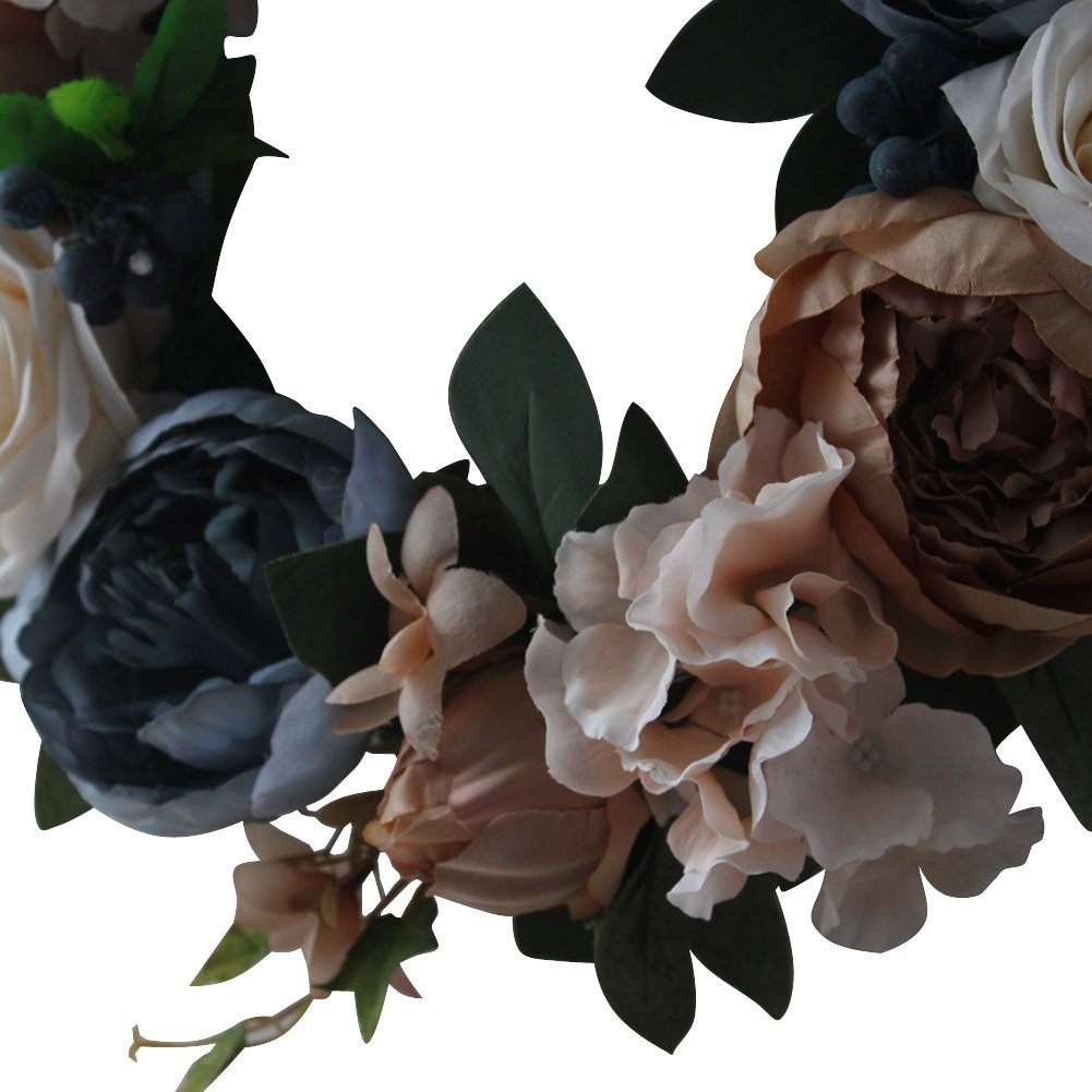 Vintage Rose Wreath Home Wall Decorations by LOUHO (Image #4)