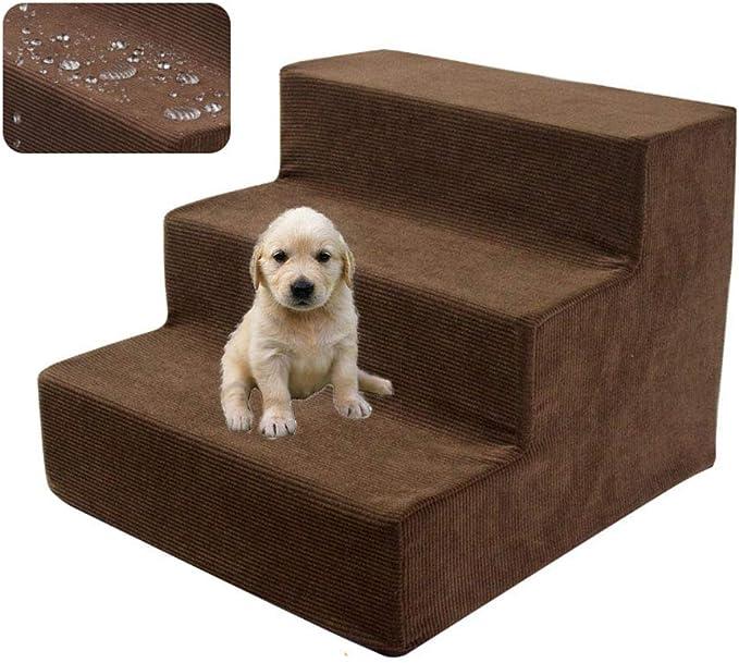 UTOPIAY Escaleras para Perros Tela Resistente al Agua Gato y Perro Suaves Pasos 3/4 para Escalar Escaleras de Esponja Respetuosas con el Medio Ambiente Perro Pequeño Peluche Sofá Cama Escalera,3steps: Amazon.es: Hogar