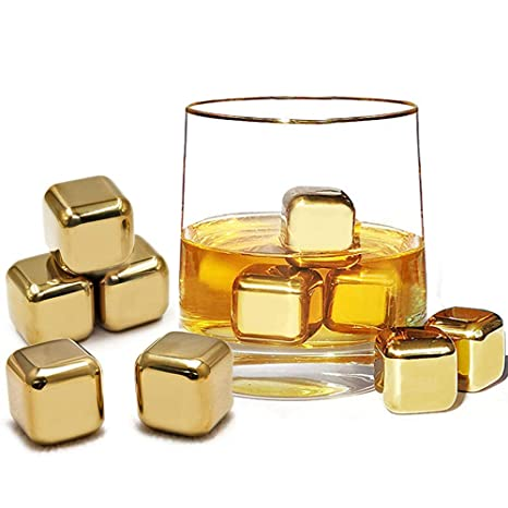 Flow Barware - Juego de 10 piedras de whisky de acero ...