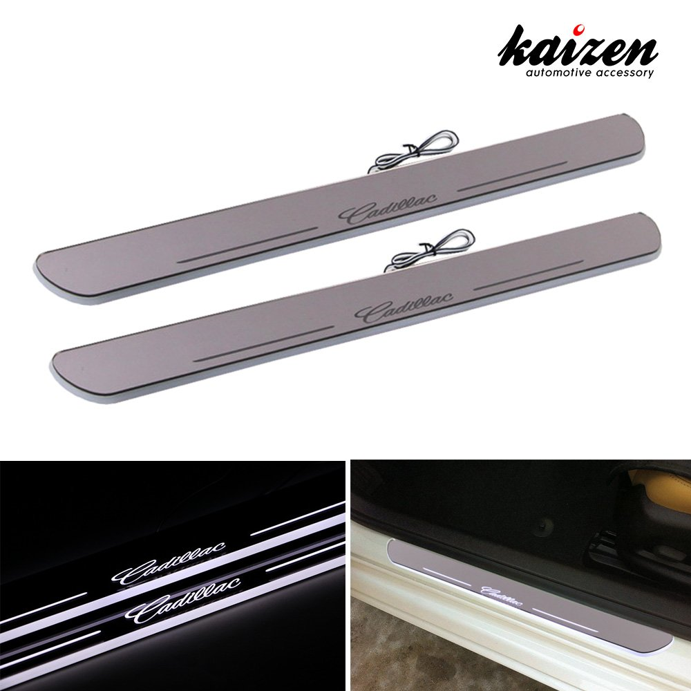 Kaizen Cadillac Srx Xts Illuminated Door Sill Entry Guard Led Wiring Harness Dynamic Moving Light Scuff Plate Protector For 2011 2012 2013 2014
