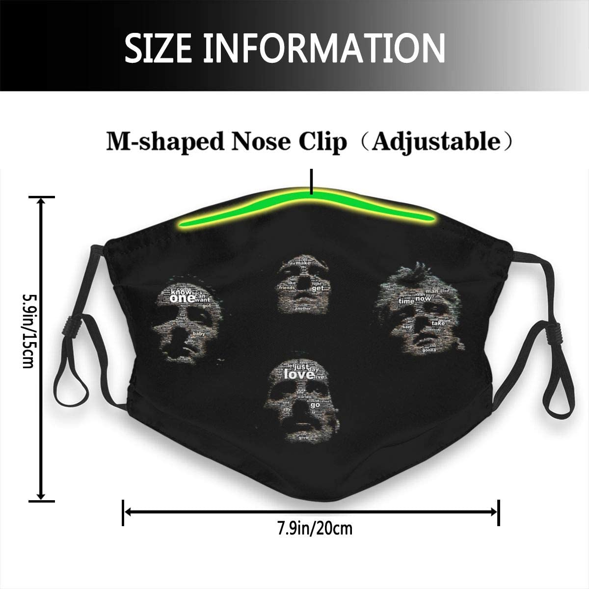 FANNERG Unisex Half Face Mouth-Muffle for Mens Womens Workout Anti-dust Face Covers