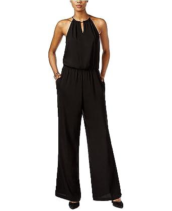 826c6946232 Amazon.com  Bar III Women s Halter-Top Wide-Leg Jumpsuit (X-Large ...