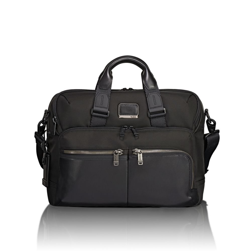Amazon.com: Tumi Men's Alpha Bravo Patterson Brief Briefcase, Black, One  Size