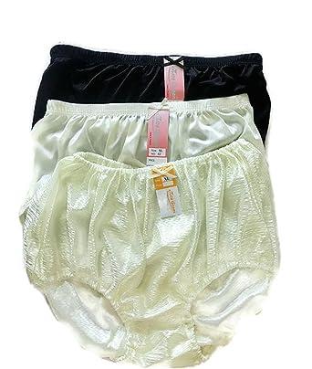 eef9f812d Jenny 3 Pack Of Vintage Panties Brief Hi Cut Underwear Women Lingerie Sheer  Lace Knickers Nylon