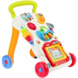 Sajani My First Step Baby Sit to Stand Activity Walker White - Toddler Learning Toys for 6 Months -15 Months Old