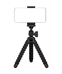 Ailun Phone Camera Tripod Mount/Stand,Compact Phone Holder,Compatible with Camera Galaxy s8/s9/s10/s10plus/s7/s7 Edge,Note8/9,Note5 More Camera&Cellphone[Black]