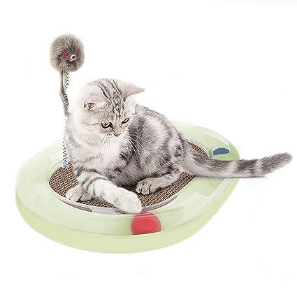PETCUTE Juguete para Gatos rascador para Gato Scratcher con ratón Alfombras rascadoras