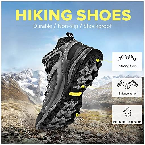 CAMEL Waterproof Hiking Shoes for Men Shockproof Non Slip